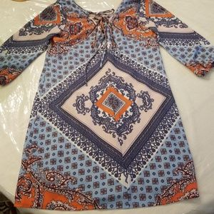 SOLDLots of love by Specklers colorful Aztec dress